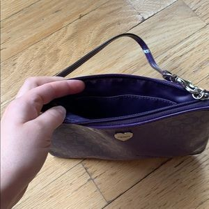 Coach Bags - COACH / Purple Designer Clutch